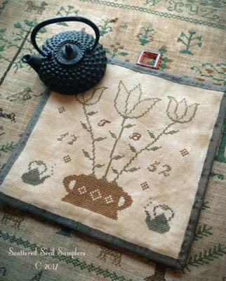 Scattered Seeds Samplers ~ Tea Time Kettle Mat