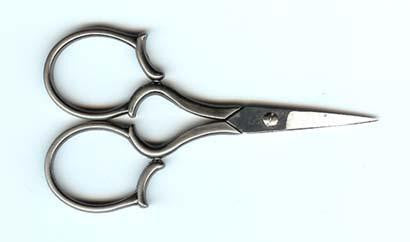 "4"" Silver Leaf Handle Scissors"