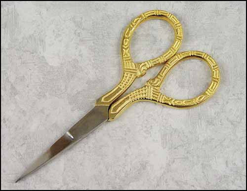 "3 1/2"" Gold Handle Embroidery Scissors"