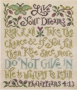 Silver Creek Samplers ~ Live Your Dreams