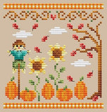 Shannon Christine Designs ~ Pumpkin Patch (see set of 3 stitched together!!)