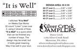 Silver Creek Samplers ~ It Is Well