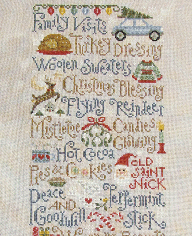 Silver Creek Samplers ~ My Christmas List (click to see full design!)