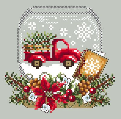 Shannon Christine Designs ~ Christmas Truck Snow Globe