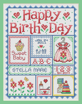 Sue Hillis Designs ~ Happy Birth Day for Girls