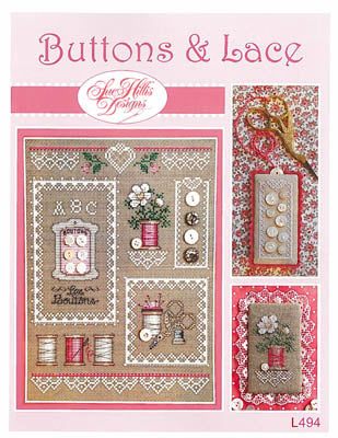 Sue Hillis Designs ~ Buttons & Lace