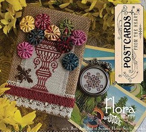 Summer House Stitche Workes ~ Postcards from the Heart Series ~ Flora