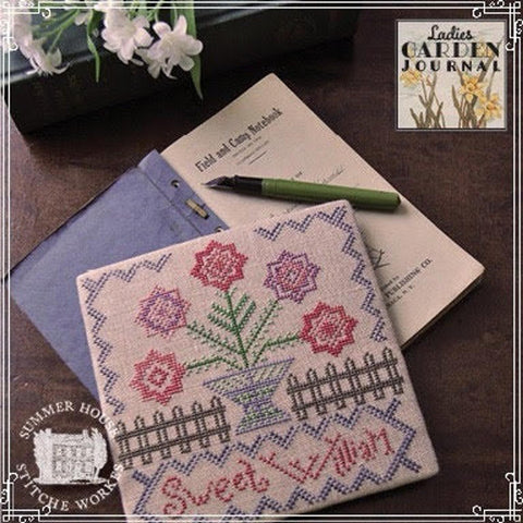 Summer House Stitche Workes ~ Ladies Garden Journal #1 - Sweet William