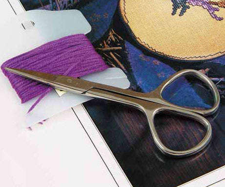 "3 1/2"" Diamond Ring Embroidery Scissors"