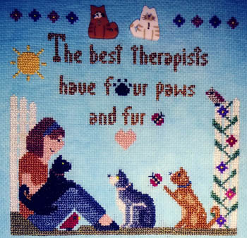 Sister Lou Stitches ~ The Best Therapists Cats