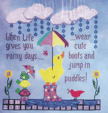 Sister Lou Stitches ~ Life Lessons Puddles