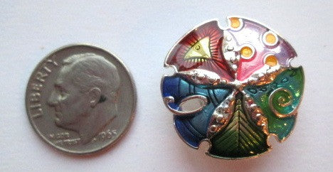 Needle Minder ~ Small Colorful Sand Dollar