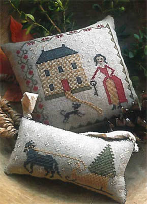 Stacy Nash Primitives ~ Sleigh Bells Pinkeep & Ornament