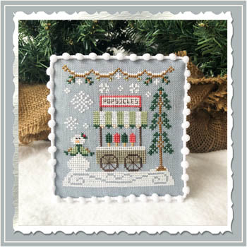 Country Cottage Needleworks ~ Snow Village 6 - Popsicle Cart