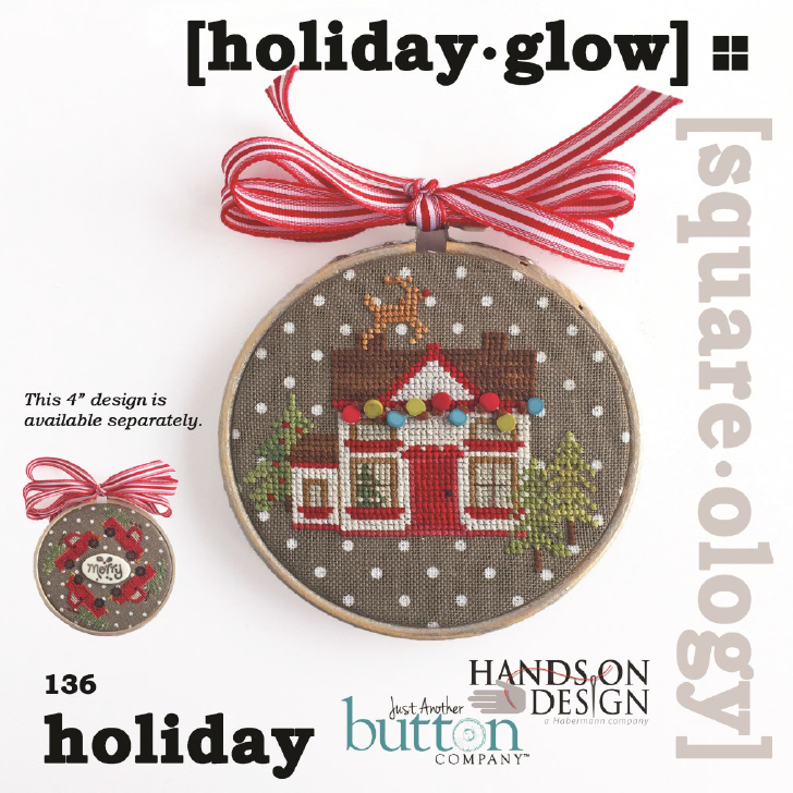 Hands On Design/JABC Square-ology ~ Holiday Glow w/button pack