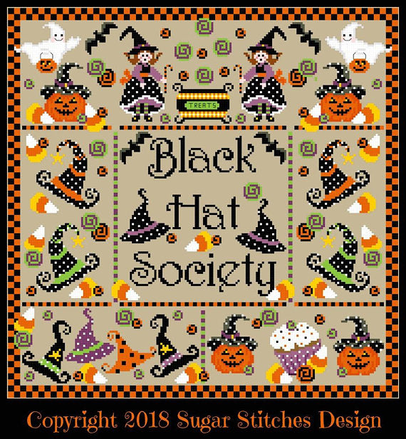 Sugar Stitches Designs ~ Black Hat Society