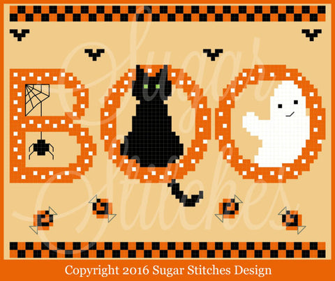 Sugar Stitches Designs ~ Boo