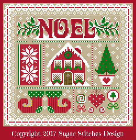 Sugar Stitches Designs ~ Noel Christmas Sampler