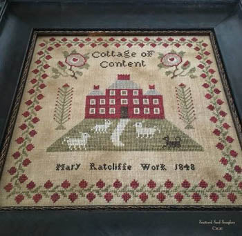 Scattered Seeds Samplers ~ Mary Ratcliffe 1848 Antique Reproduction