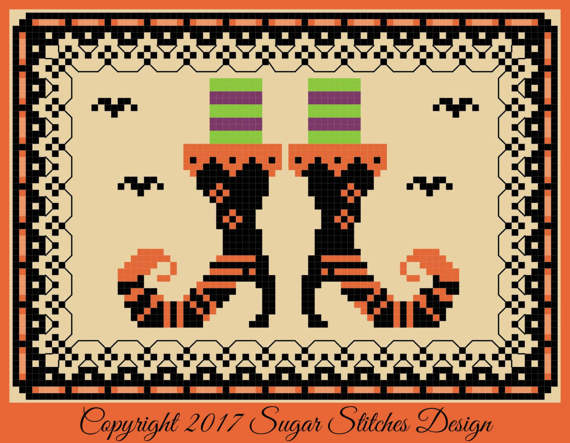 Sugar Stitches Designs ~ Witchy Boots