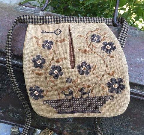 Stacy Nash Primitives ~ Stone Flowers Sewing Pocket