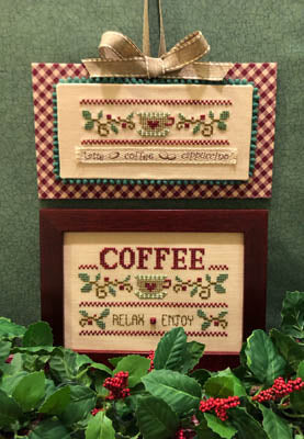 ScissorTail Designs ~ Coffee Relax Enjoy (button & twill tape included)