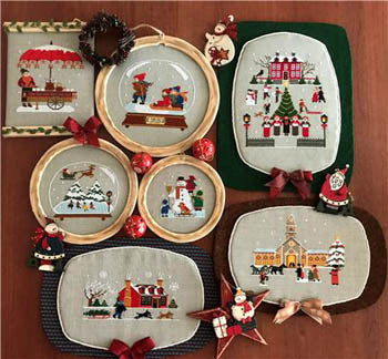 Twin Peak Primitives ~ Hawthornville Christmas Book 1  (7 designs)