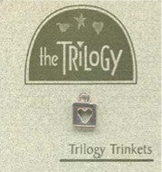 The Trilogy ~ Square Heart Sterling Silver Trinket