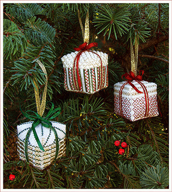 Victoria Sampler ~ Christmas Gifts, Three Christmas Ornaments