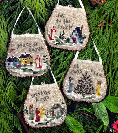 Victoria Sampler ~ Mini Purse Ornaments