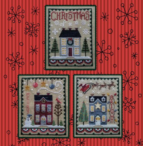Waxing Moon Designs ~ Christmas House Trio