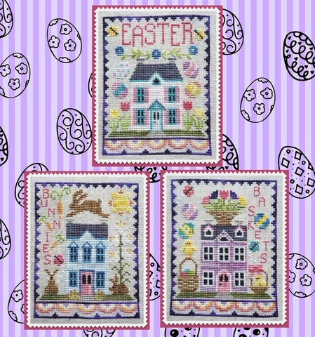 Waxing Moon Designs ~ Easter House Trio