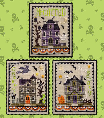 Waxing Moon Designs ~ Haunted House Trio