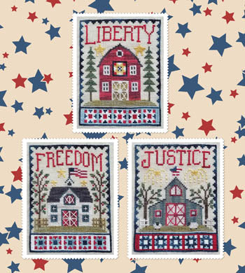 Waxing Moon Designs ~ Patriotic Barn Trio