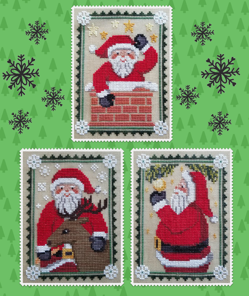 Waxing Moon Designs ~ Santa Trio