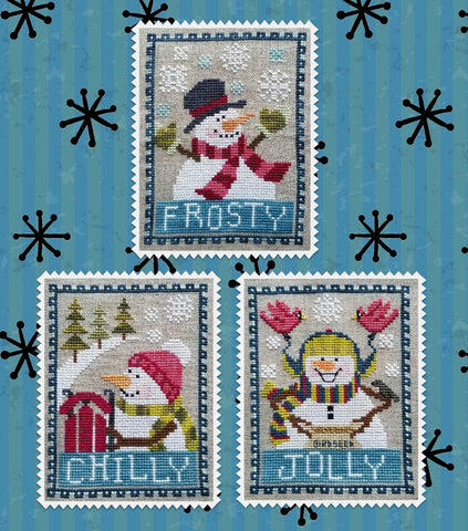 Waxing Moon Designs ~ Snowman Trio
