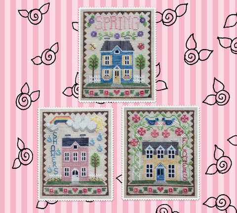 Waxing Moon Designs ~ Spring House Trio