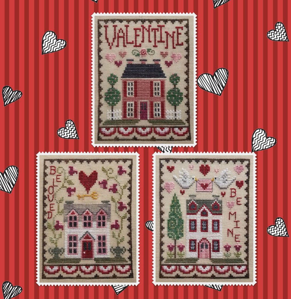 Waxing Moon Designs ~ Valentine House Trio