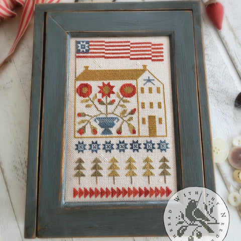 Country Stitches/With Thy Needle & Thread ~ Baltimore Saltbox