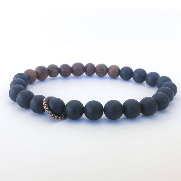 Jewelry - Men's Onyx & Wood Bracelet