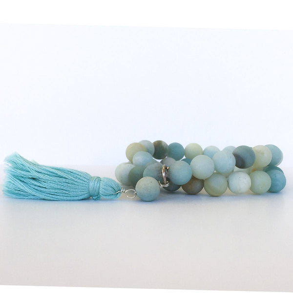 Amazonite Wrapped Mala Bracelet - Desert Naturals