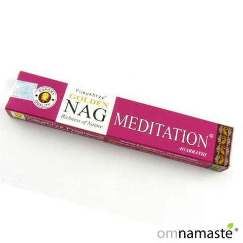 Incienso Golden Nag Meditation Namasté