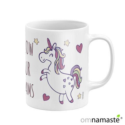 "Taza cerámica Unicornio ""Follow your dreams"""