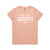 WOMENS STAPLE TEE - SALMON PINK
