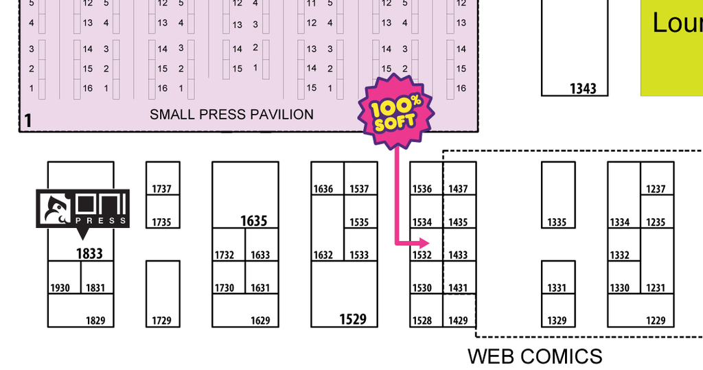 100 Soft at SDCC Map