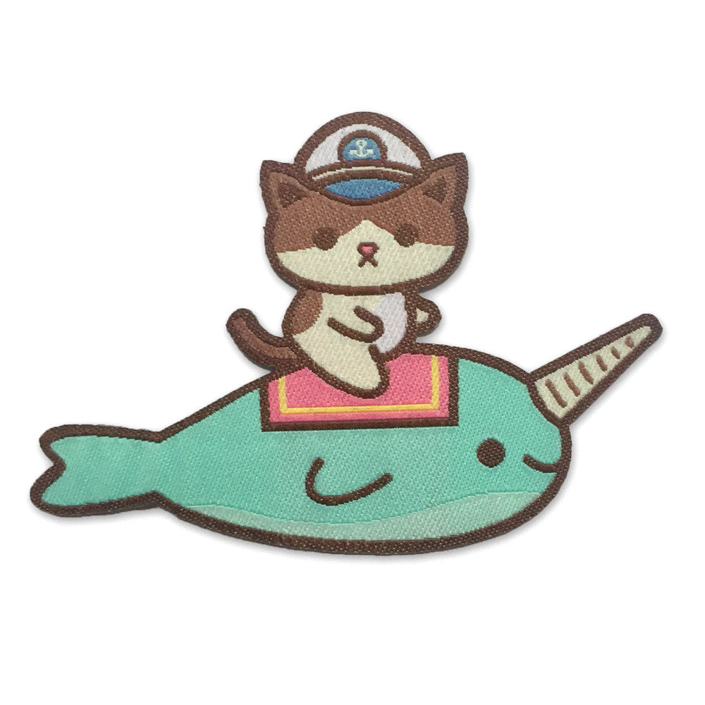 Admiral Whiskers Narwhal Iron-on Patch