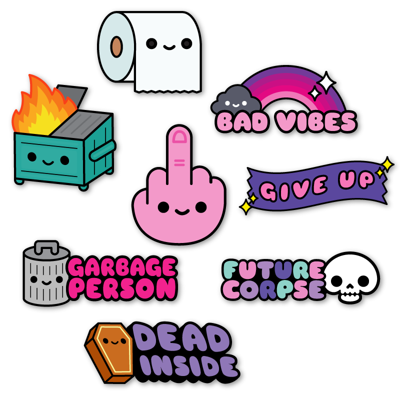 Bad Vibes Sticker Pack