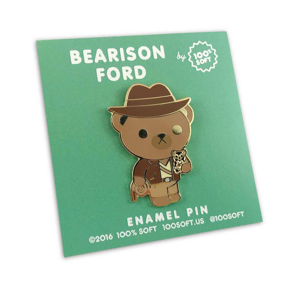 BEARison Ford - Indiana Bear Enamel Pin