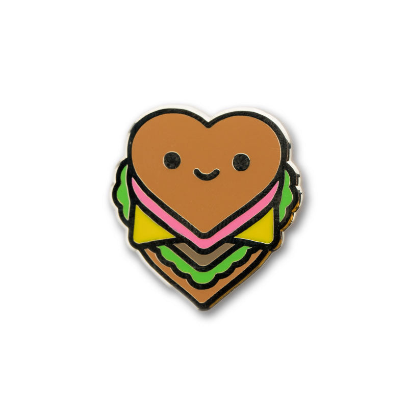 Burger Luv Enamel Pin