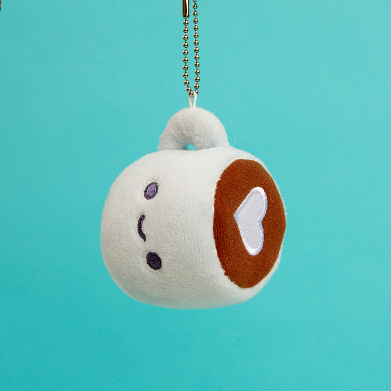 Coffee Plush Charm Keychain